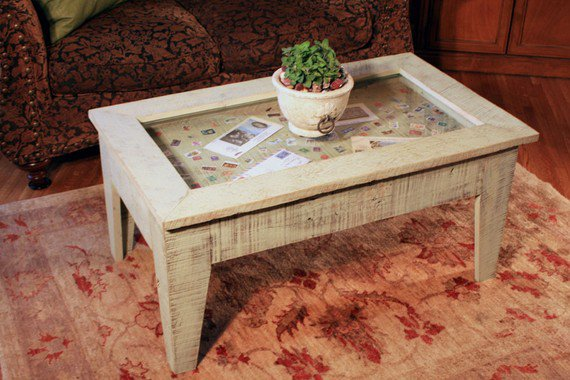 Display Coffee Table With Glass Top From Natureinspiredcrafts On