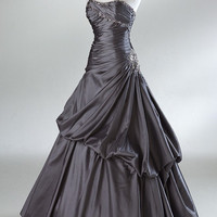 Ball Gown Strapless Floor-length Taffeta Prom/ Evening Dress