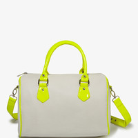 Patent Neon Boston Bag