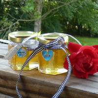 48 Wildflower Honey 2oz Jars, Wedding Favors, Raw Honey, Tennessee Wildflower Honey, Bridal Shower Party, Engagement Party Charms