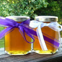 Wedding Favors, 12 Raw Wildflower Honey 5oz Jars, Raw Honey, Tennessee Wildflower, Edible Favors