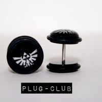 Zelda Triforce Fake Plugs by Plug-Club