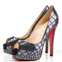Christian Louboutin Sobek 140mm Leather Pumps 