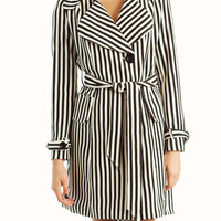 striped-belted-trench BLACKCREAM - GoJane.com