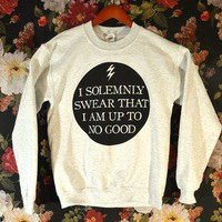 &#x27;I Solemnly Swear That I Am Up To No Good&#x27; Sweater