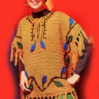 Vintage Woodland Poncho Crochet Pattern | Los Angeles Needlework