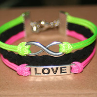 bracelet  love bracelet infinity bracelet karma bracelet magic cute Three strings together