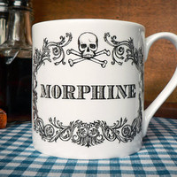 Morphine &amp; Skull Coffee Cup/Mug
