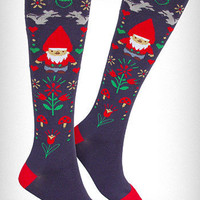 Gnome & Mushrooms Knee Socks | PLASTICLAND