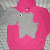 Elephant trunk sleeve HOODIE BONANZA One Time ONLY Bubblegum Pink Medium