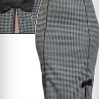 Hot for Houndstooth Pencil Skirt | PLASTICLAND