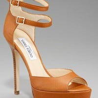 Jimmy Choo Double Buckle Ankle Wrap Sandal - $270.00