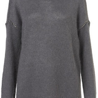 Knitted Chain Insert Jumper - Knitwear  - Apparel