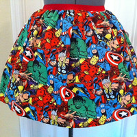 Full skirt Licensed Marvel Avengers fabric- limited quantity- made to order