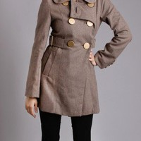 Urban Behavior Classical Double Breasted Wool Coat in Other Ways To Shop New Arrivals at Frock Candy
