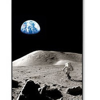 Personalized Astronaut Moon Earth Outer Space for Phone 4 iphone 4s Pattern Print iphone hard case for iphone 4, iphone 4S-plastic cover