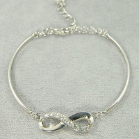 To Infinity Bracelet in Silver -  $14.50 | Daily Chic Accessories | International Shipping