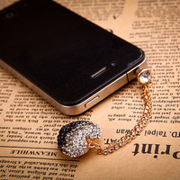 Bling iPhone 4 4s earphone plug dust plug-Christmas Sale