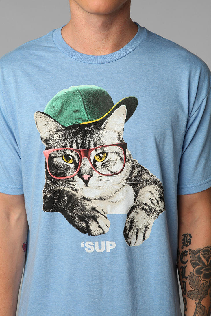 Sup cat tee from urban outfitters for Lucky cat shirt urban outfitters