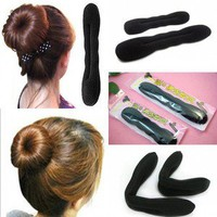 HAIR TOOL STYLING ACCESSORIES HAIR MAGIC SPONGE CLIP FOAM BUN CURLER TWIST 2PCS