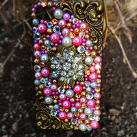 Pink, Gold & Pearl iPhone 4/4s Case- Sunset Dreams