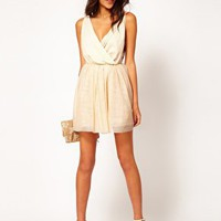 ASOS Party Dress with Velvet Trim at asos.com