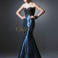 Beautiful Mermaid Trumpet Strapless Sweetheart Satin Evening Dress - US$189.99 - Goldwo.com