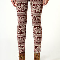 Jade Knitted Fairisle Leggings