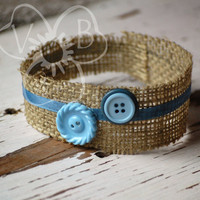 Prince Peter burlap & blue ribbon newborn crown for boy photo prop hair accessory RTS