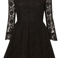 Crochet Lace Flippy Dress - Dresses  - Apparel