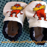 Dr Seuss character Baby booties Made to Order by fourtinycousins
