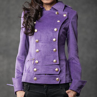 winter jackets Purple cashmere winter coats