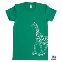 GIRAFFE Womens T-shirt - American Apparel S M L XL (11 Colors Options)