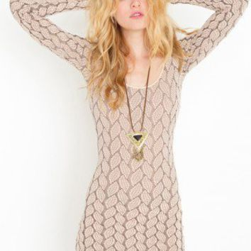 Brady Bow Dress - Nude