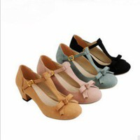 Lady Fashion Pump Shoes Leather Linning 4 Colors Full size Hot Sell #012