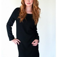 Perfect Noir Shift Dress | Sugar and Sequins