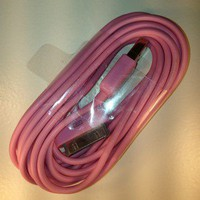 Pink10FT USB Sync Data Charging Charger Cable Cord For iphone4 4s And Ipads