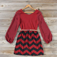Winters Tale Chevron Dress, Sweet Women's Bohemian Clothing