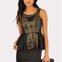 Melanie Studded Dress - Black at Necessary Clothing