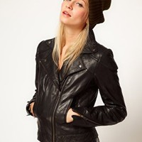 ASOS Leather Biker Jacket at asos.com