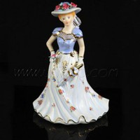 Porcelain Lady Statue [UF-PG018] - $56.00 : Buy Unique Craft Gifts From Best Online Shop, Ufingo