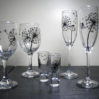 Dandelion Barware Collection Set of 2 wine by PrettyMyDrink