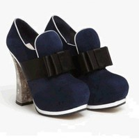 Miu Miu Bow Front Platform Bootie