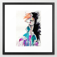 Strip Framed Art Print by Holly Sharpe | Society6
