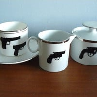 Hitman coffee set by trixiedelicious on Etsy