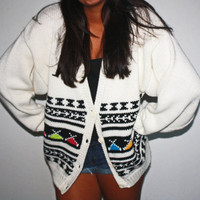Oversize Vintage Cardigan 80&#x27;s