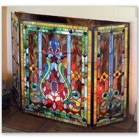 Stained Glass Firescreen