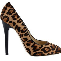 JIMMY CHOO Leopard Pony 12cm Victoria Court