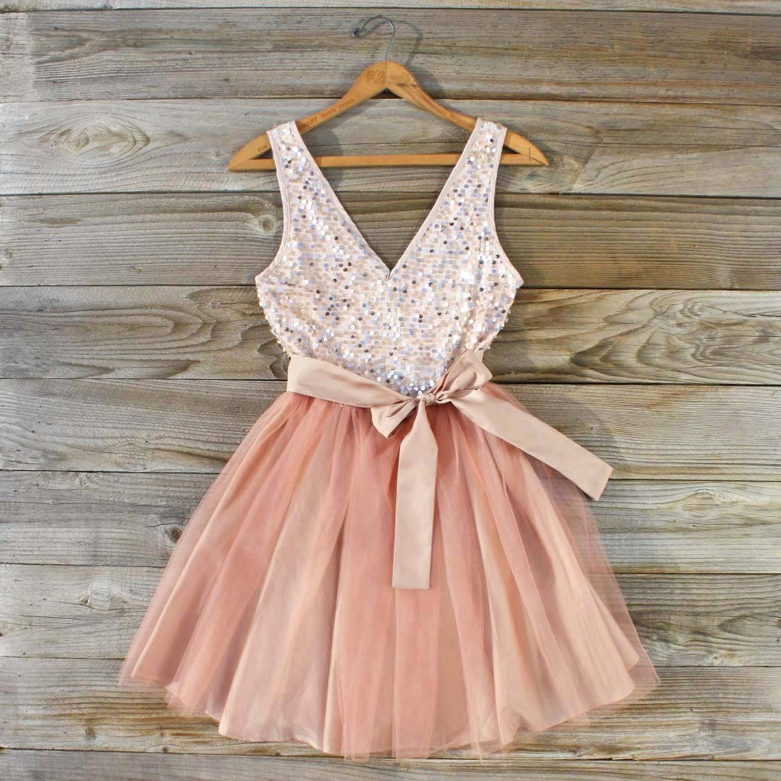 August Glow Dress in Peach from Spool No 72