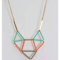Color Block Geometric Necklace